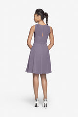 Porter Bridesmaid Dress in wisteria. Back photo.