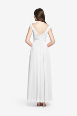 ELIZABETH BRIDESMAID GOWN WHITE
