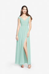 ELIZABETH BRIDESMAID GOWN SEA GLASS