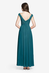 Elizabeth Bridesmaid gown in Tealness. Back View.