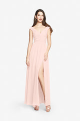 ELIZABETH BRIDESMAID GOWN ROSE QUARTZ