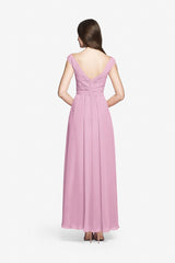 Elizabeth Rose Quartz Bridesmaid gown. Back view.