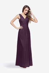 DELANO BRIDESMAID GOWN EGGPLANT