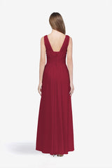 DELANO BRIDESMAID GOWN CRANBERRY