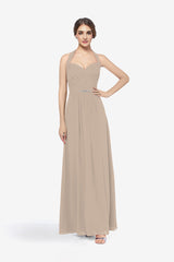 Abbott bridesmaid gown tulip in 0 front view
