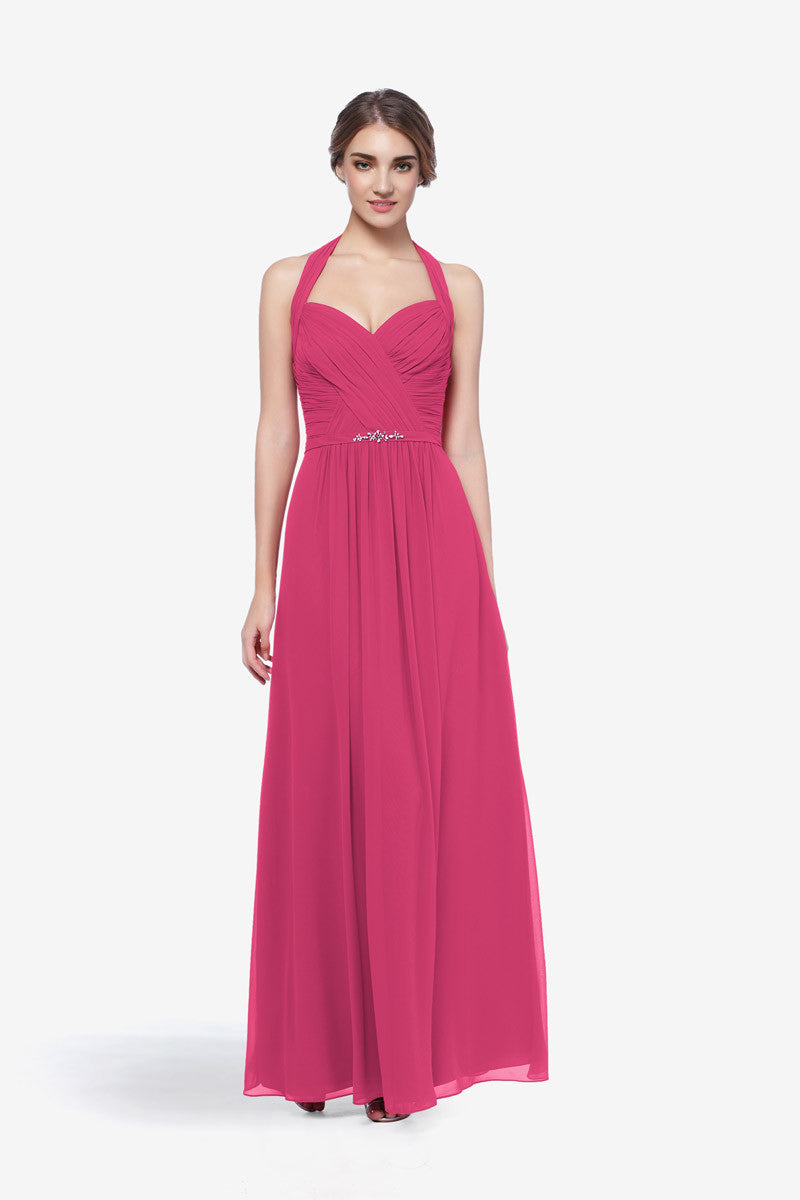 Abbott hot pink wedding party dress david tutera for gather and gown bridesmaid gown hot pink abbott bridesmaid ombrellifo Gallery