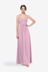 Abbott bridesmaid gown orchid in 0 front view