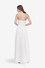 WHITELEY BRIDESMAID GOWN WHITE