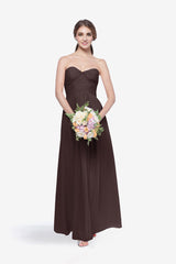WHITELEY BRIDESMAID GOWN MINK FRONT VIEW