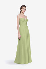 WHITELEY BRIDESMAID GOWN SAGE FRONT VIEW