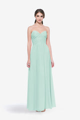 WHITELEY BRIDESMAID GOWN SEA GLASS FRONT VIEW
