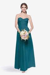 WHITELEY BRIDESMAID GOWN TEALNESS FRONT VIEW