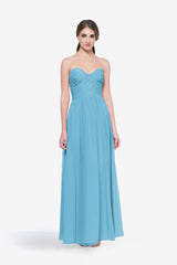 WHITELEY BRIDESMAID GOWN TURQUOISE FRONT VIEW
