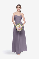 WHITELEY BRIDESMAID GOWN WISTERIA FRONT VIEW
