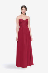 WHITELEY BRIDESMAID GOWN RUBY FRONT VIEW