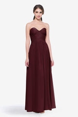 WHITELEY BRIDESMAID GOWN MAHOGANY FRONT VIEW