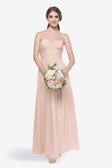 WHITELEY BRIDESMAID GOWN BLUSH FRONT VIEW