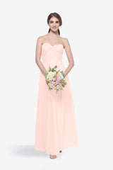 WHITELEY BRIDESMAID GOWN ROSE QUARTZ FRONT VIEW