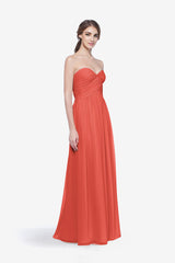 WHITELEY BRIDESMAID GOWN CORAL FRONT VIEW