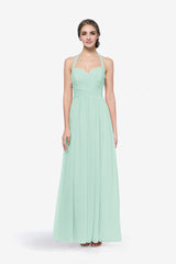 REED BRIDESMAID GOWN SEA GLASS