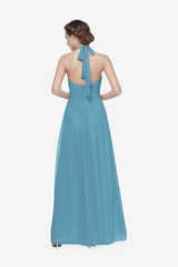 REED BRIDESMAID GOWN TURQUOISE