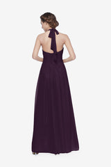REED BRIDESMAID GOWN EGGPLANT