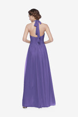 Reed bridesmaid gown in Purple. Back View.