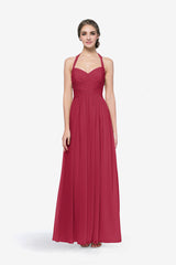 REED BRIDESMAID GOWN RUBY