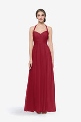 REED BRIDESMAID GOWN CRANBERRY