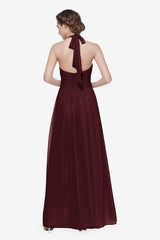 Reed bridesmaid gown in Mahogany. Back View.