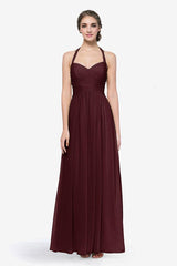 Reed bridesmaid gown in Mahogany. Front view.