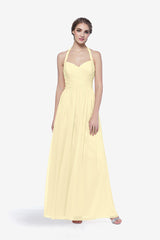 REED BRIDESMAID GOWN SOFT YELLOW