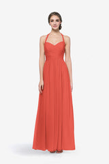 REED BRIDESMAID GOWN CORAL