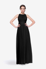 Toby bridesmaid gown in black front view