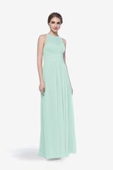 Toby bridesmaid gown in sea glass front view
