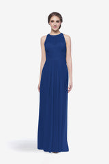 Toby bridesmaid gown in royal front view