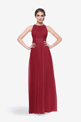 Toby bridesmaid gown in cranberry front view