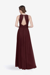 TOBY BRIDESMAID GOWN MAHOGANY