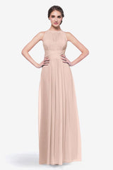 Toby bridesmaid gown in Blush front view