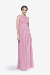 Toby bridesmaid gown in orchid front view