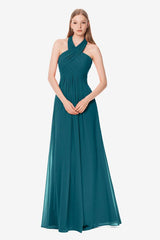 Jessica Bridesmaid Gown in tealness, Front photo.