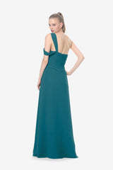 MELISSA BRIDESMAID GOWN TEALNESS