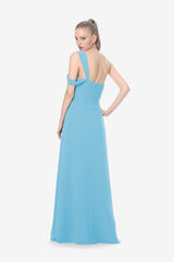 MELISSA BRIDESMAID GOWN TURQUOISE