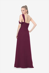 MELISSA BRIDESMAID GOWN RASPBERRY