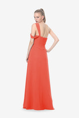 MELISSA BRIDESMAID GOWN CORAL