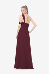 MELISSA BRIDESMAID GOWN MAHOGANY