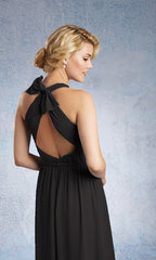 LAYLA BRIDESMAID GOWN BLACK