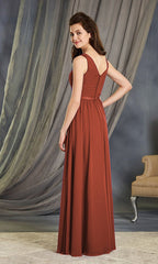 AVA BRIDESMAID GOWN BURNT ORANGE