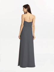BRIANNA BRIDESMAID GOWN PEWTER