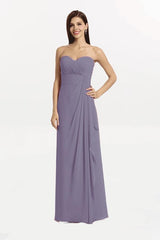 Brianna. Wisteria Bridesmaid Gown by Gather and Gown. front view.
